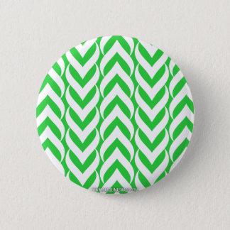 Chevron Zig Zag Green Button