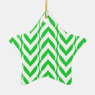 Chevron Zig Zag Green Ornament