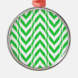 Chevron Zig Zag Green Christmas Tree Ornament
