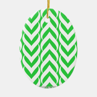 Chevron Zig Zag Green Christmas Tree Ornaments