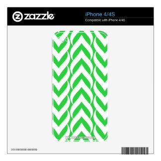 Chevron Zig Zag Green iPhone 4 Skins