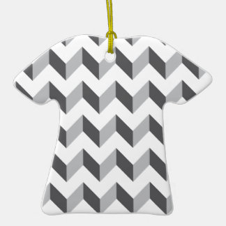 Chevron Zig Zag Grey Ornaments