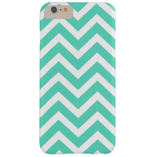 Chevron Zig Zag in Tiffany Aqua Blue Barely There iPhone 6 Plus Case