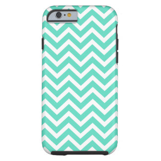 Chevron Zig Zag in Tiffany Aqua Blue iPhone 6 Case