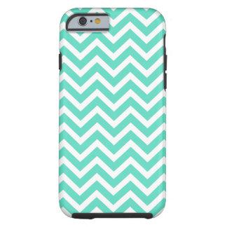 Chevron Zig Zag in Tiffany Aqua Blue Tough iPhone 6 Case