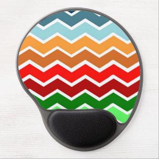Chevron zig zag multiple colors pattern fun happy gel mouse mat