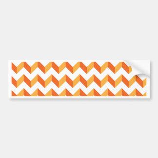 Chevron Zig Zag Orange Bumper Sticker