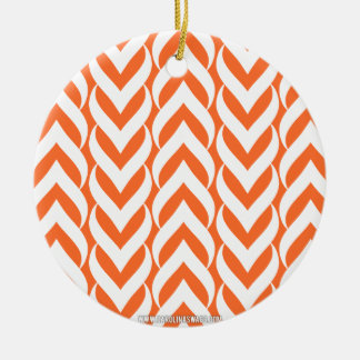 Chevron Zig Zag Orange Ornaments