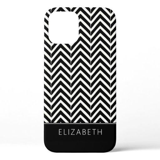 Chevron Zig Zag Pattern iPhone 12 Case