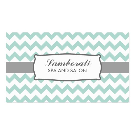 Chevron Zig Zag Pattern Elegant Modern Green Double-sided Standard Business Cards (pack Of 100)