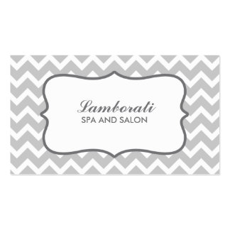 Chevron Zig Zag Pattern Elegant Retro Gray Double-Sided Standard Business Cards (Pack Of 100)