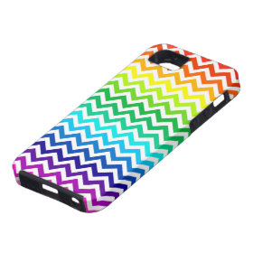 Chevron Zig Zag Pattern in Bright Rainbow Colors iPhone 5 Covers