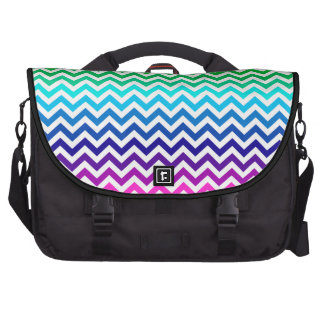 Chevron Zig Zag Pattern in Bright Rainbow Colors Computer Bag