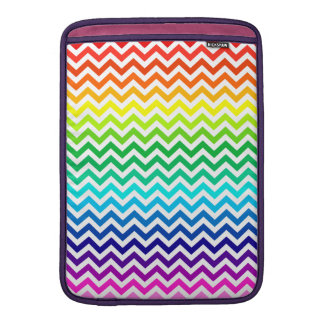 Chevron Zig Zag Pattern in Bright Rainbow Colors MacBook Air Sleeve