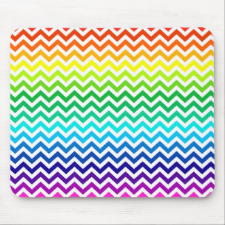 Chevron Zig Zag Pattern in Bright Rainbow Colors Mouse Pad