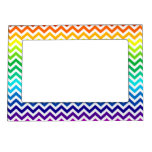 Chevron Zig Zag Pattern in Bright Rainbow Colors Picture Frame Magnet