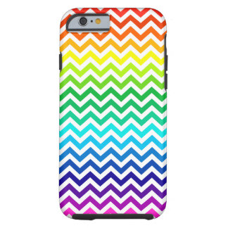 Chevron Zig Zag Pattern in Bright Rainbow Colors Tough iPhone 6 Case