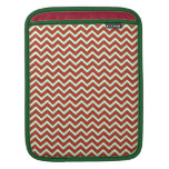 Chevron Zig Zag Pattern in Festive Colors Sleeve For iPads