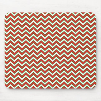 Chevron Zig Zag Pattern in Festive Colors Mouse Pad