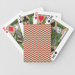 Chevron Zig Zag Pattern in Festive Colors Deck Of Cards