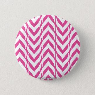 Chevron Zig Zag Pink Button