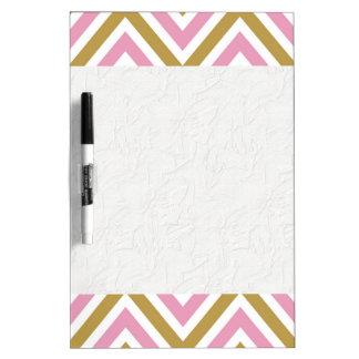 chevron,zig zag,pink,gold,white,trendy,girly,cute, dry erase whiteboards