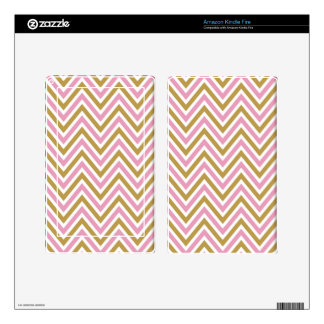 chevron,zig zag,pink,gold,white,trendy,girly,cute, skin for kindle fire