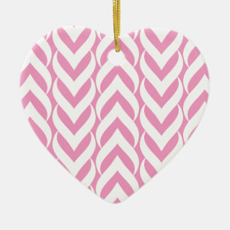 Chevron Zig Zag Pink Christmas Tree Ornaments