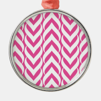 Chevron Zig Zag Pink Christmas Ornament