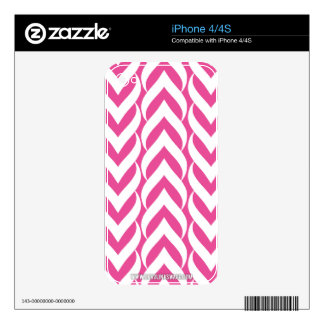 Chevron Zig Zag Pink Decal For The iPhone 4S