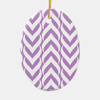 Chevron Zig Zag Purple Ornaments