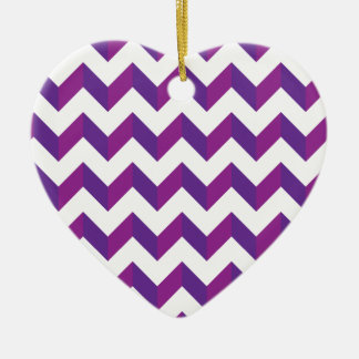 Chevron Zig Zag Purple Christmas Tree Ornament