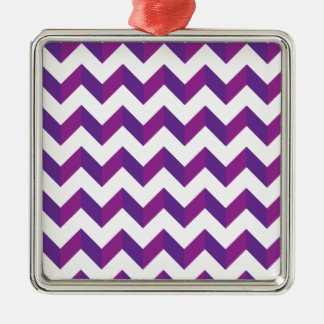 Chevron Zig Zag Purple Christmas Tree Ornaments