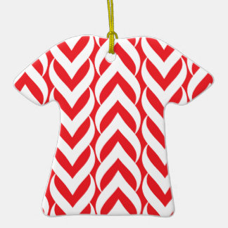 Chevron Zig Zag Red Ornaments