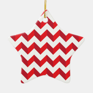 Chevron Zig Zag Red Ornament