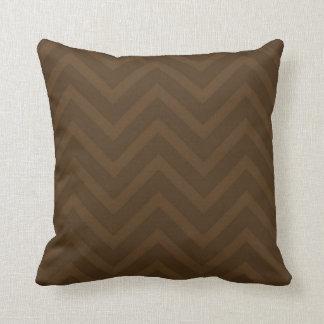 Chevron Zig-Zag Shades of Brown Throw Pillow