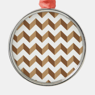 Chevron Zig Zag Tan Ornament