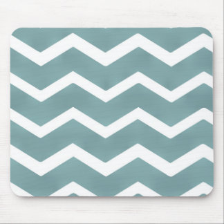 Chevron zig zag white teal pattern by healing love mouse pads
