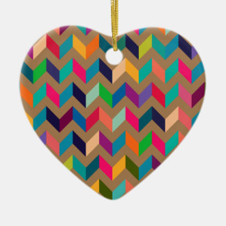 Chevron Zig Zag Wild Colors Khaki Christmas Ornament