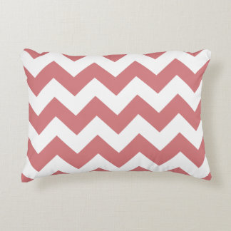 Chevron Zigzag Accent Pillow - Summer Coral