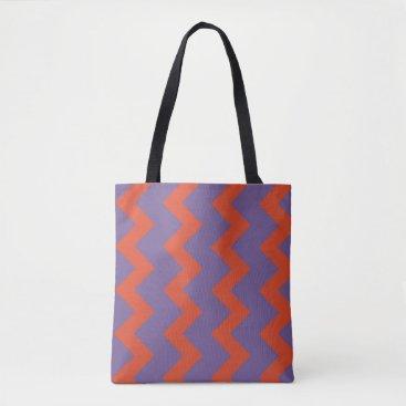 Beach Themed Chevron zigzag design in natural bright colors tote bag