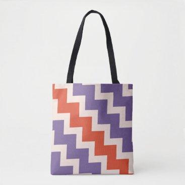 Beach Themed Chevron zigzag design in natural colors tote bag