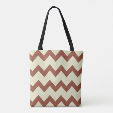 Beach Themed Chevron zigzag design in natural colors tote bag