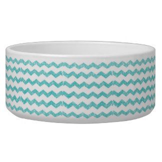 chevron,zigzag,glitter,turquoise,trendy,girly,chic bowl
