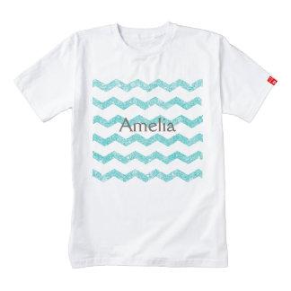 chevron,zigzag,glitter,turquoise,trendy,girly,chic zazzle HEART T-Shirt