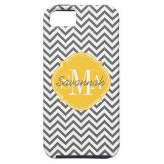 Chevron Zigzag Gray Pattern Monogram iPhone 5 Cover
