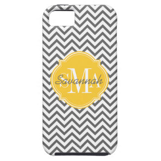 Chevron Zigzag Gray Pattern Monogram iPhone SE/5/5s Case