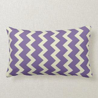 chevron zigzag natural pale green bright purple lumbar pillow