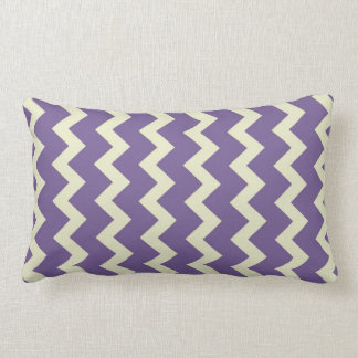 Chevron zigzag natural pale green bright purple throw pillow