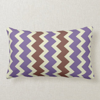 Chevron zigzag pale green bright purple brown throw pillow